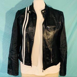 NEVA for Tall Girl Black LEATHER MOTO jacket XL